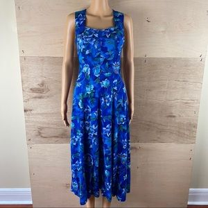 Vintage 80's All That Jazz Floral Maxi Dress